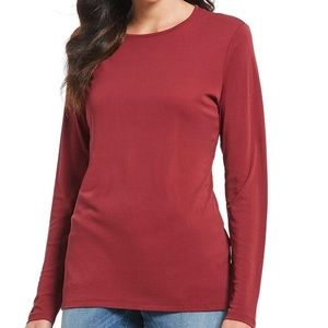 EILEEN FISHER Crew Neck Long Sleeve T Shirt